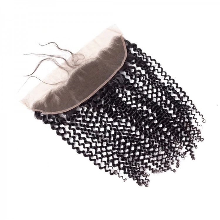 10a brazilian human hair 13*4 Closure Kinky Curly Lace Frontal