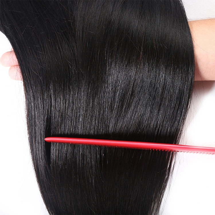 10a brazilian human hair 2 Bundles & 13*4 Lace Closure Silky Straight