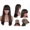 10a brazilian hair wholesale Wig With Fringe Silky Straight