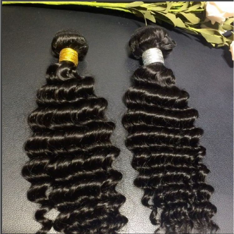 10a brazilian hair wholesale 3 bundles & 4*4 lace Closure Deep Wave