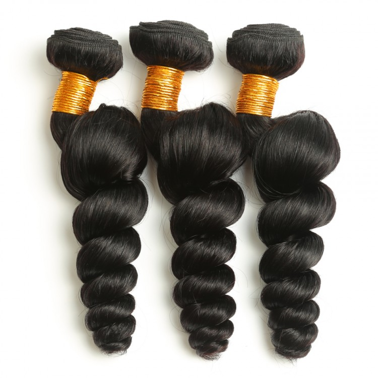 1 bundle human hair Peruvian Grade 10A Loose Wave 100g hair bundle