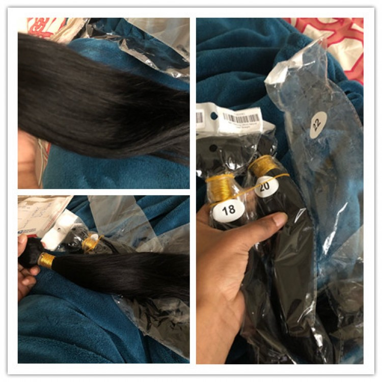 10a grade hair for sale Peruvian 3 bundles & 4*4 lace Closure Silky Straight
