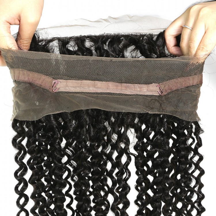 10a brazilian human hair 360 Closure Kinky Curly