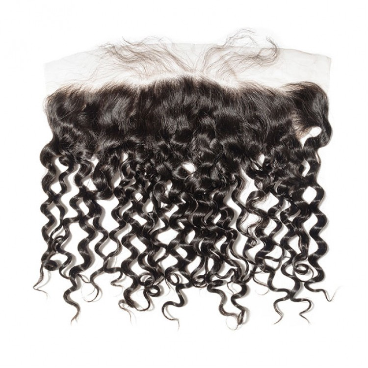 10a brazilian human hair 13*4 Closure Italian Curly lace frontal
