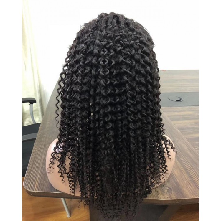 10a brazilian hair wholesale 360 Wig Kinky Curly lace frontal